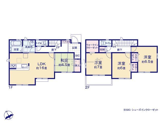 グラファーレ 成田市中台4期2棟の見取り図