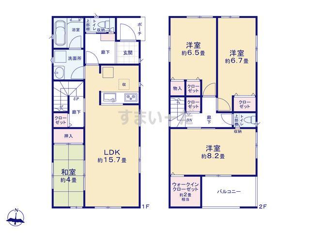 クレイドルガーデン 浜松市東区篠ケ瀬町 第3の見取り図