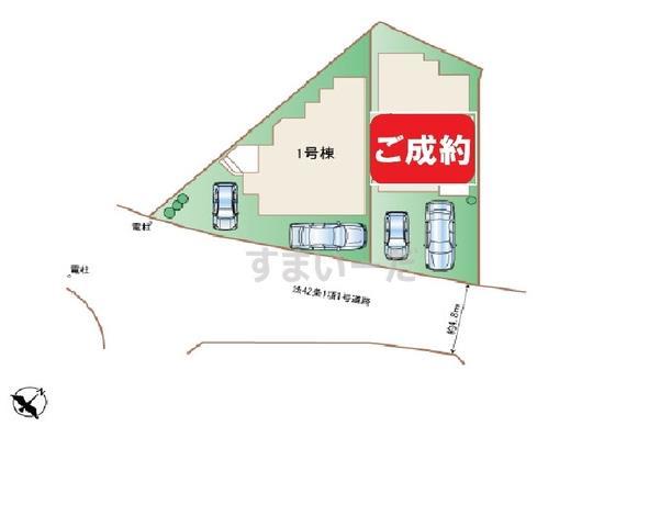 ハートフルタウン 沖縄市安慶田の見取り図