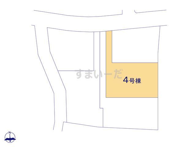 クレイドルガーデン 伊勢崎市境下武士 第3の見取り図