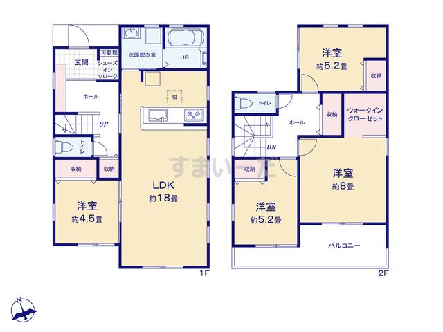 リーブルガーデン 南区芳川南鼡野町4期の見取り図