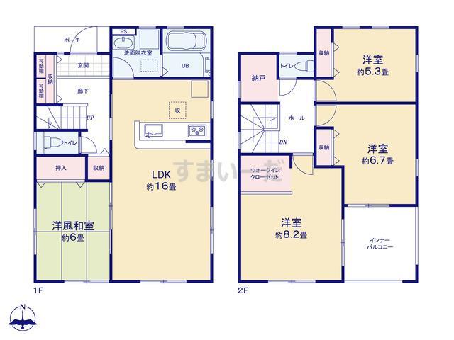 リーブルガーデン 姫路市勝原区大谷3期の見取り図