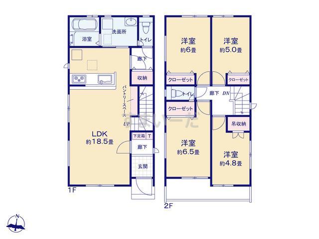 グラファーレ 名古屋市日ノ宮町2棟の見取り図