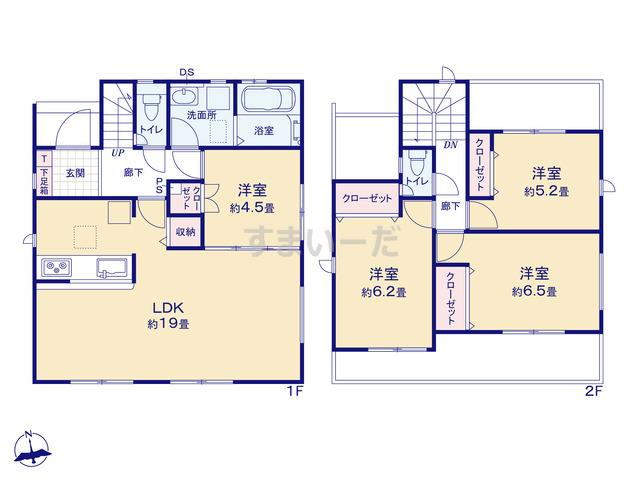 グラファーレ 名古屋市東茶屋5期4棟の見取り図
