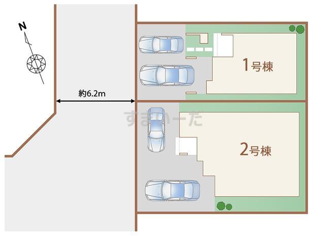 ハートフルタウン 仙台岩切11期の見取り図