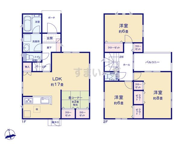 クレイドルガーデン 大阪市阿倍野区共立通 第1の見取り図
