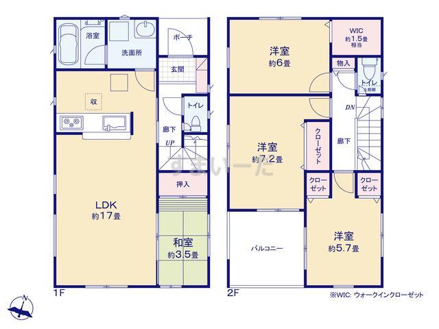 クレイドルガーデン 神戸市垂水区青山台 第5の見取り図