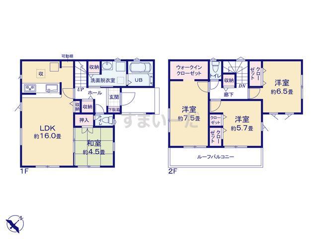 リナージュ 横浜市栄区尾月21-1期の見取り図