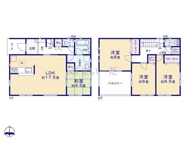 クレイドルガーデン 東広島市八本松東 第2の見取り図