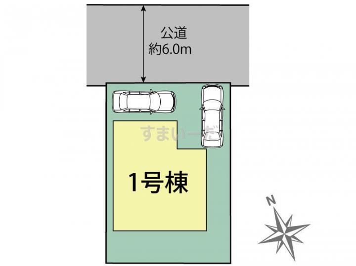 ブルーミングガーデン 姫路市飾磨区構1丁目1棟-長期優良住宅-の見取り図