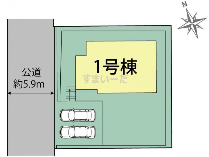 ブルーミングガーデン 神戸市北区松が枝町3丁目1棟-長期優良住宅-の見取り図