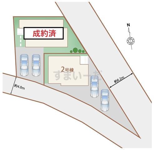 ハートフルタウン 仙台沖野7期の見取り図