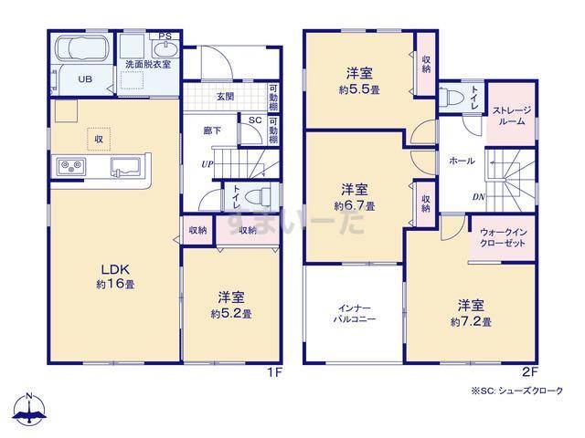 リーブルガーデン 大和高田市野口3期の見取り図