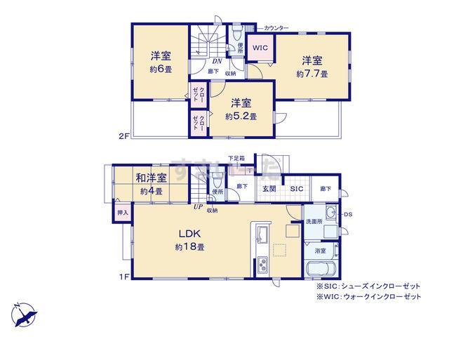 グラファーレ 横浜市港南台3期3棟の見取り図