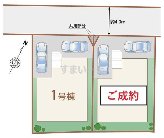 ハートフルタウン 仙台川内三十人町の見取り図