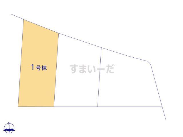 クレイドルガーデン 伊勢崎市境平塚 第1の見取り図