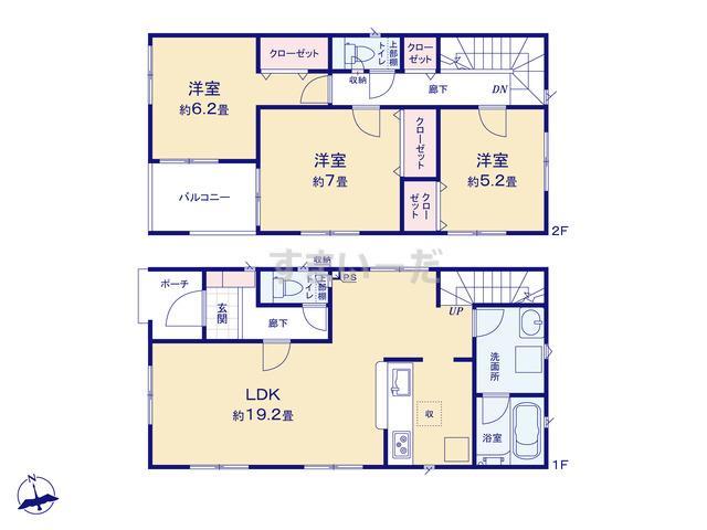 クレイドルガーデン 札幌市南区南三十九条西 第1の見取り図