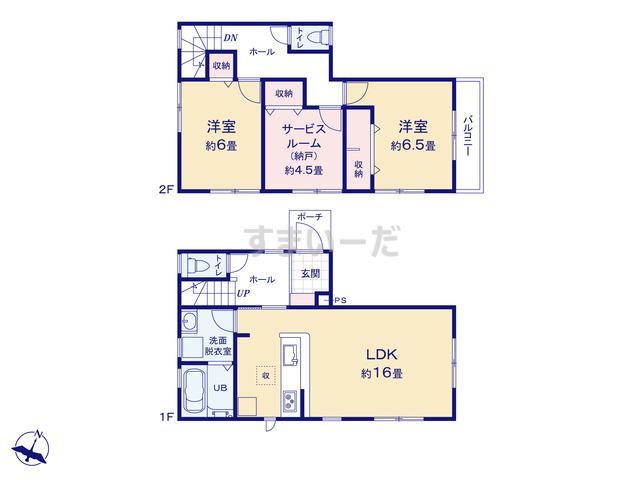リーブルガーデン 藤沢市弥勒寺4丁目第2の見取り図
