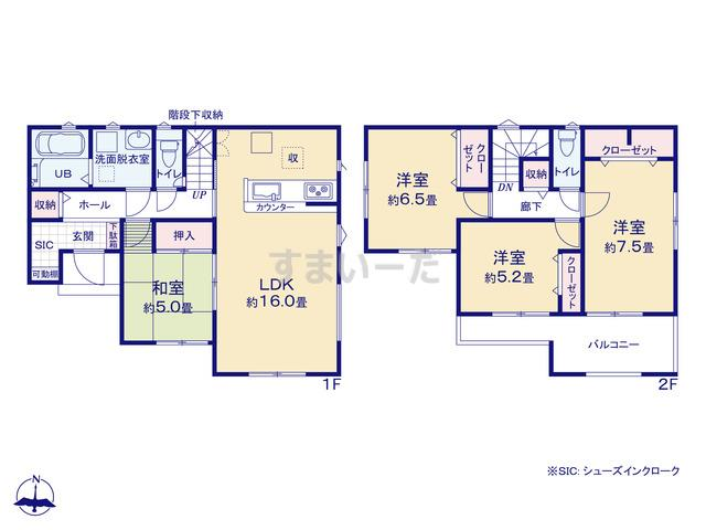 リナージュ 広島市東区福田21-1期の見取り図