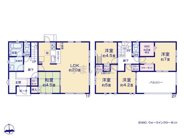 クレイドルガーデン 日田市丸山 第1の見取り図
