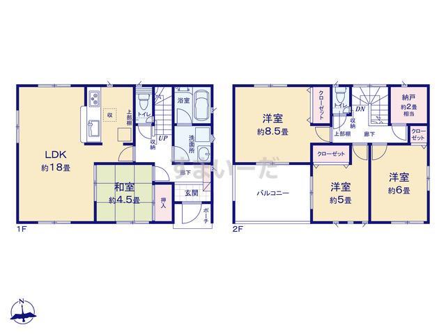 クレイドルガーデン 熊谷市久下 第11の見取り図