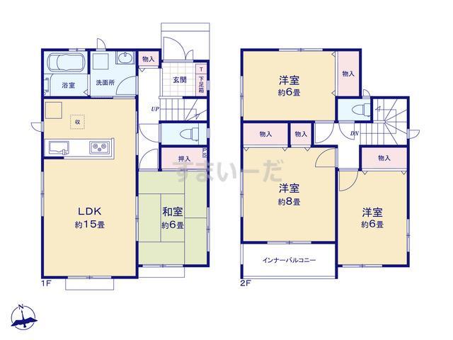 ハートフルタウン 富山市常盤台1期の見取り図