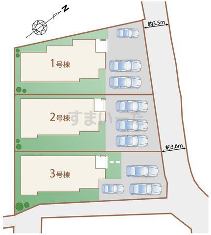 ハートフルタウン うるま市兼箇段の見取り図