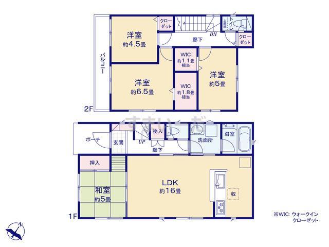 クレイドルガーデン 福岡市南区屋形原 第7の見取り図