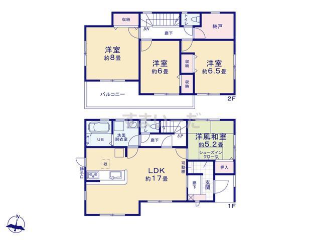 リーブルガーデン 大和高田市築山3期の見取り図