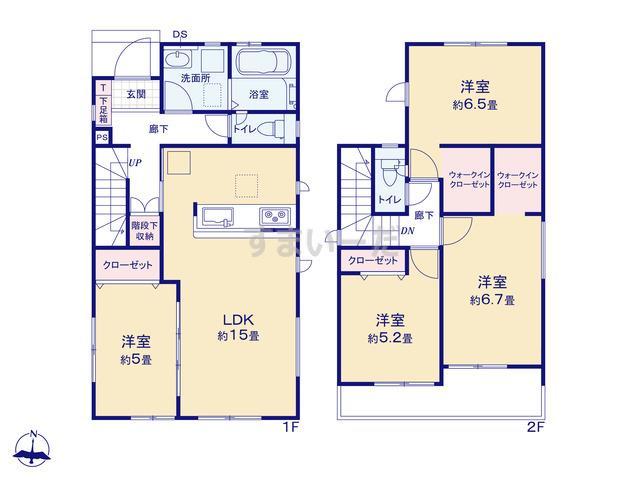 グラファーレ 清須市東須ヶ口3棟の見取り図