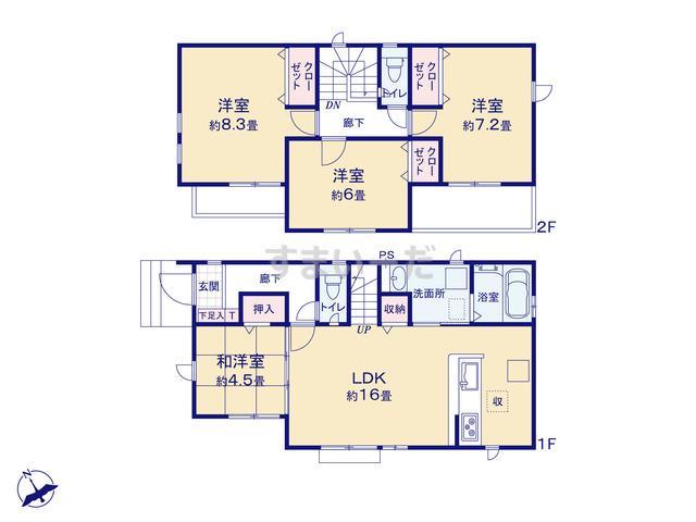 グラファーレ 志木市下宗岡9期2棟の見取り図