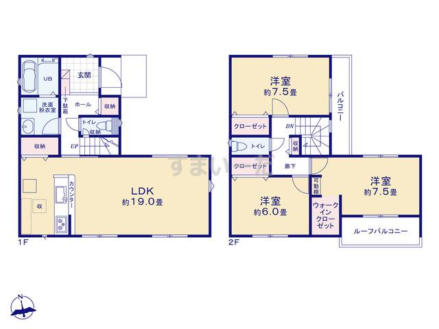 リナージュ 広島市安佐北区三入21-1期の見取り図