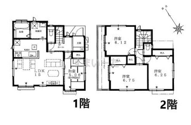 ハートフルタウンシリーズ 江戸川区東葛西の見取り図