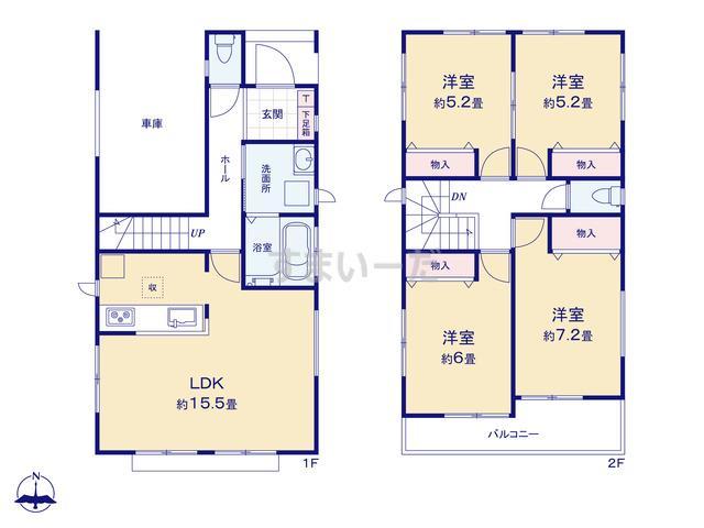 ハートフルタウン 清須市上条の見取り図