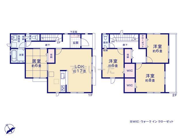 グラファーレ 仙台市天神沢6期2棟の見取り図