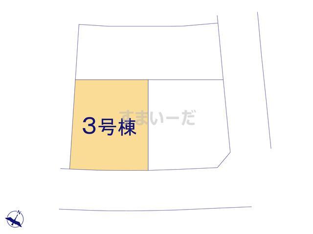 グラファーレ いわき市泉もえぎ台2期3棟の見取り図