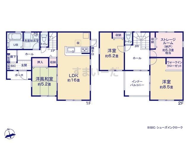 リーブルガーデン 姫路市広畑区蒲田10期の見取り図