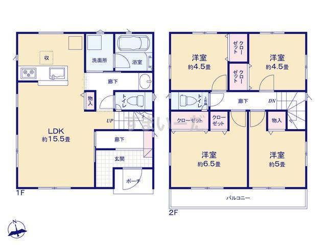 クレイドルガーデン 横須賀市長井 第2の見取り図