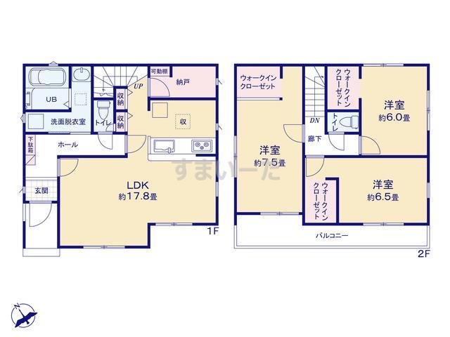 リナージュ 相模原市中央区横山20-2期の見取り図