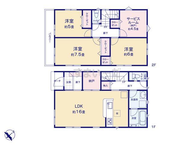クレイドルガーデン 横浜市旭区市沢町 第10の見取り図