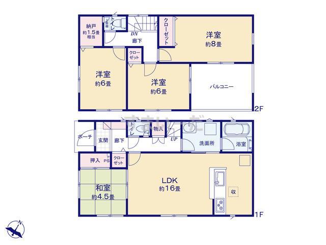 クレイドルガーデン 北上市藤沢 第4の見取り図