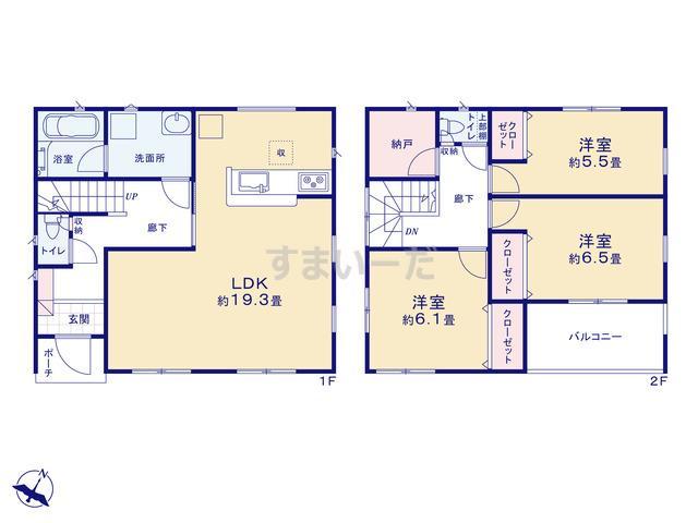 クレイドルガーデン 静岡市駿河区高松 第4の見取り図