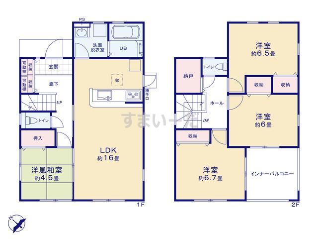 リーブルガーデン 渋川渋川第4の見取り図