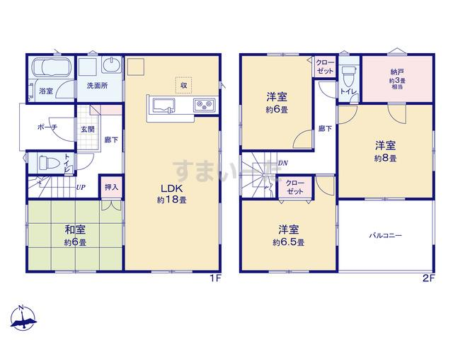 クレイドルガーデン 仙台市若林区沖野 第5の見取り図