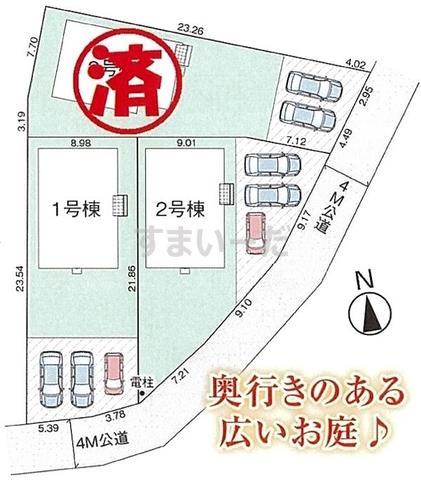 グラファーレ 土浦市乙戸3棟の見取り図