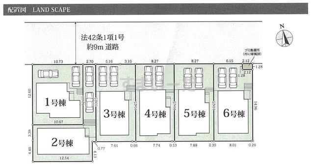 グラファーレ 町田市南成瀬2期6棟の見取り図