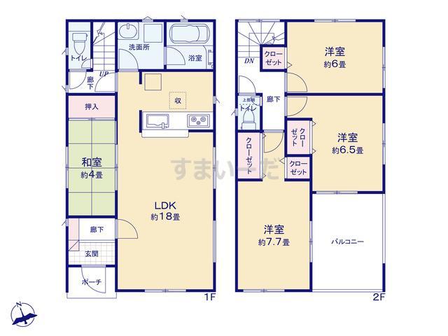 クレイドルガーデン 加東市多井田 第2の見取り図