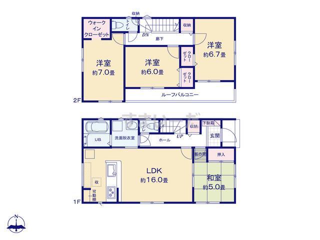 リナージュ 平塚市西真土20-1期の見取り図