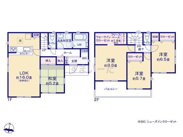 リナージュ 浜松市北区細江町中川20-1期の見取り図