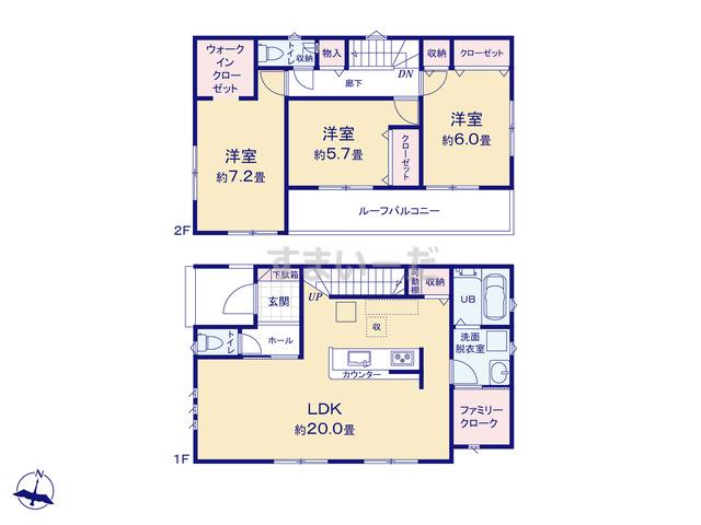 リナージュ 菊川市加茂20-1期の見取り図